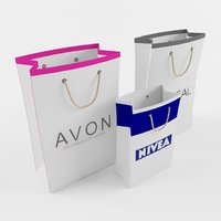 3D shopping paper bags