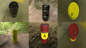3D barrel pbr model