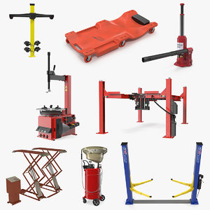 garage equipment 3D model