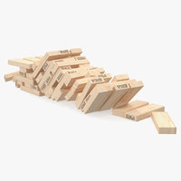 3D jenga bricks gaming model