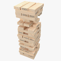 3D jenga tower