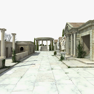 3D greek architecture model