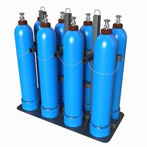 3D oxygen cylinder model