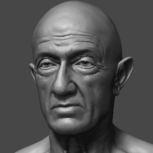 jonathan banks head face 3D model