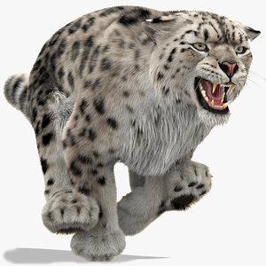 snow leopard 3 furry 3D model