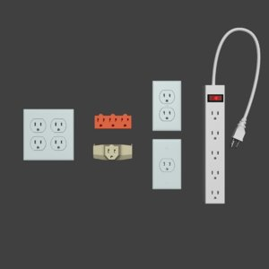 electrical outlet pack 3D model