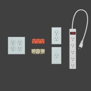 electrical outlet pack 3D model