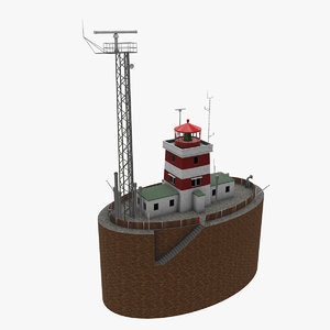 3D drogden light house model