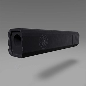 3D model rifle suppressor unity unreal