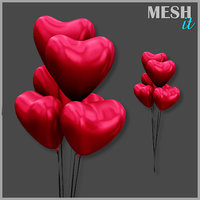 3D heart balloon model