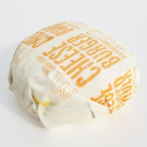 3D packaged cheeseburger model