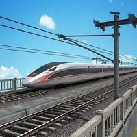 china speed train - 3D model