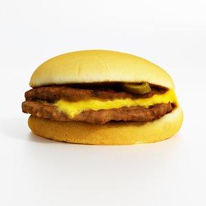mc double chili cheeseburger 3D model