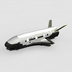 x-37b space plane x-37 3D model