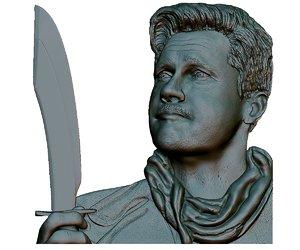 portrait bas-relief 3D