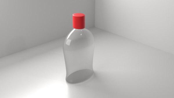 3D model plastic bottle 4