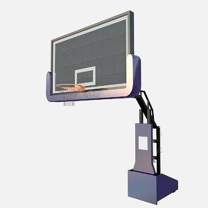 3D model basketball stand