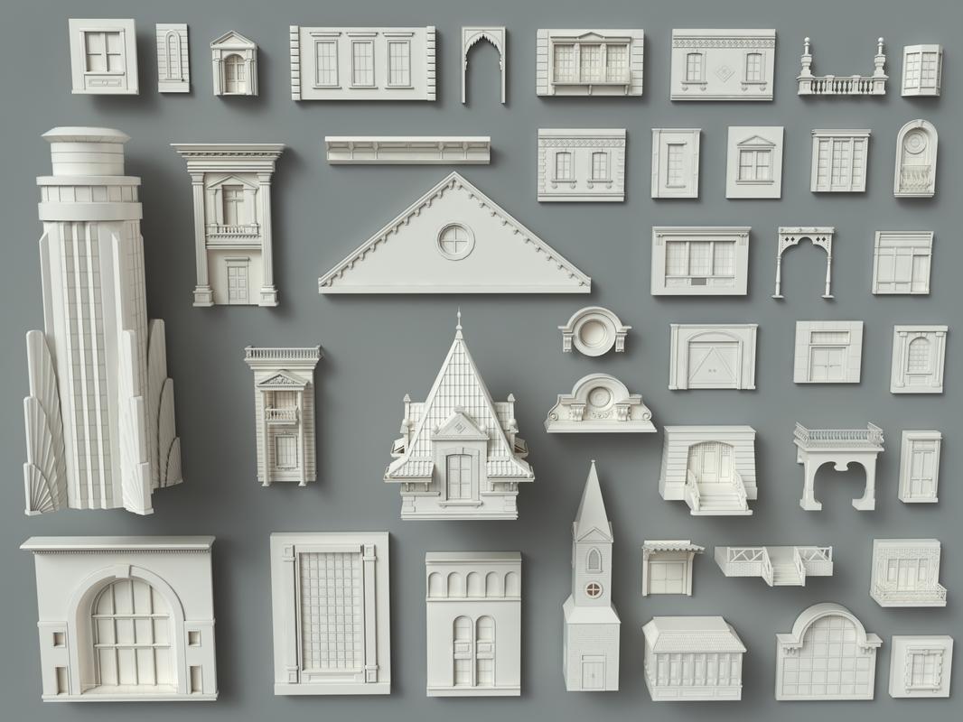 3D building facade model