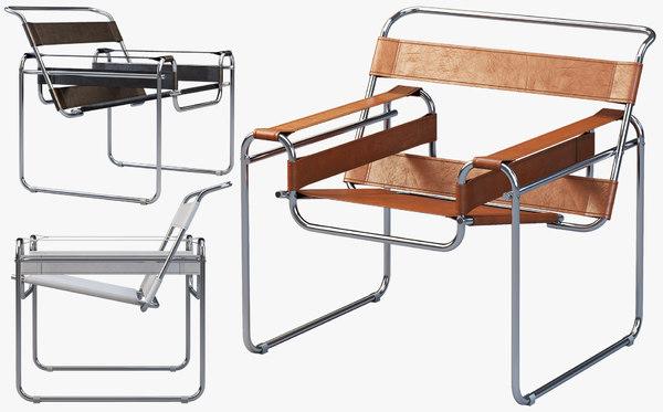 wassily chair marcel breuer 3D