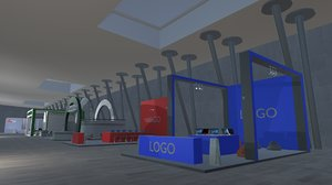 project exhibition stands - 3D