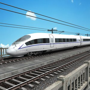 3D china speed train - model