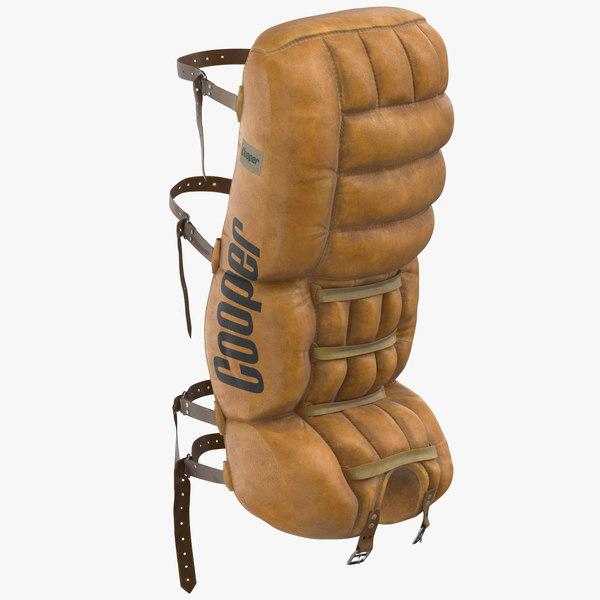 3D eighties ice hockey goalie