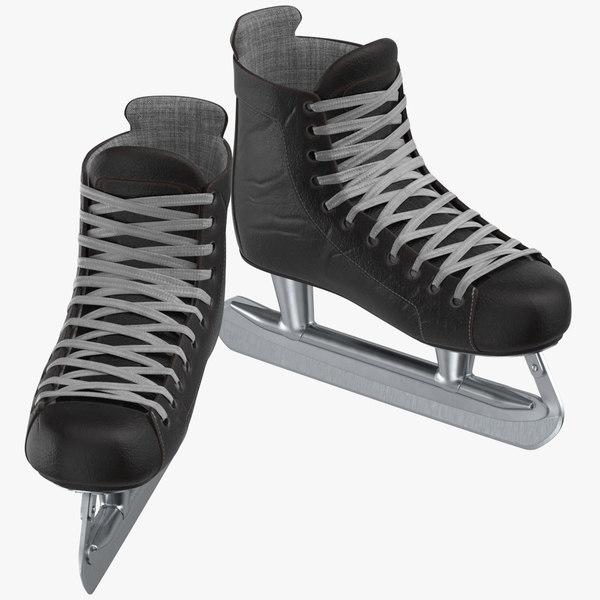 3D eighties ice hockey goalie model