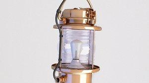 3D model ship lantern lamp