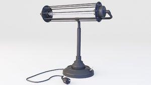 loft lamp steampunk 3D model
