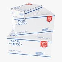 mail boxes 3D model