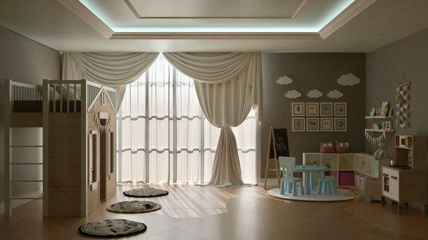 3D model kids room