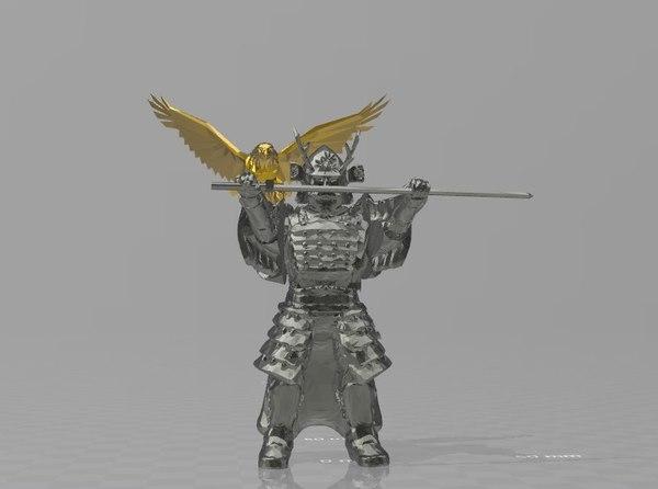 figure samurai master 3D model