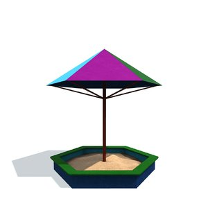 childrens sandbox b 3D model
