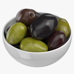 3D bowl olives