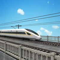 china speed train - 3D