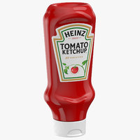 3D ketchup sauce bottle model