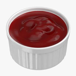 3D ketchup sauce cup