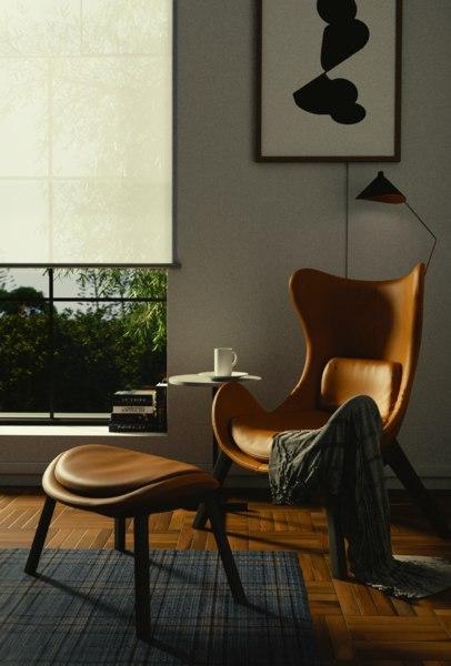 3D lounge room render scene