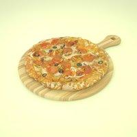 deluxe pizza 3D model