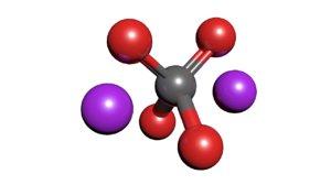3D potassium chromate molecule k2cro4