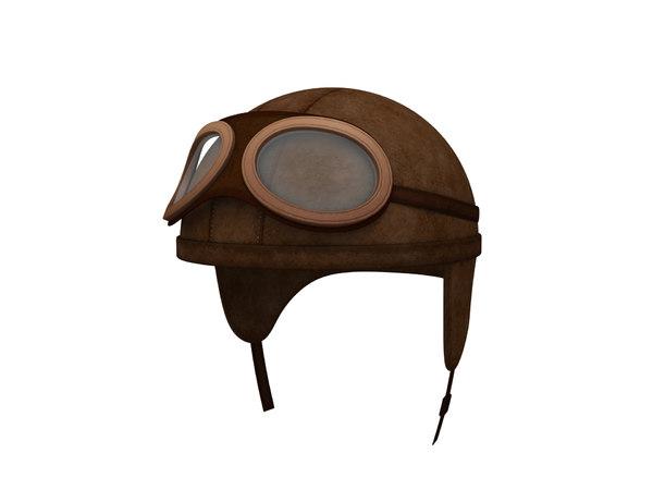 3D model vintage motorcycle helmet