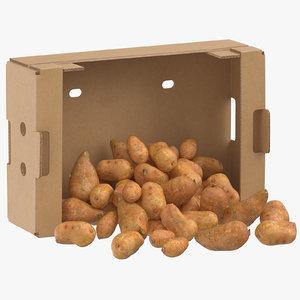 cardboard box 02 sweet model
