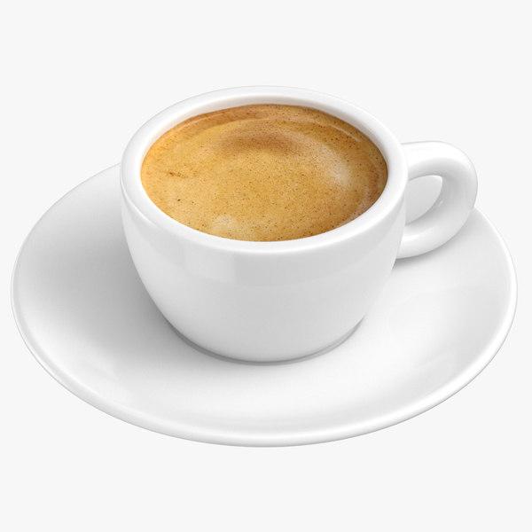 espresso coffee 3D