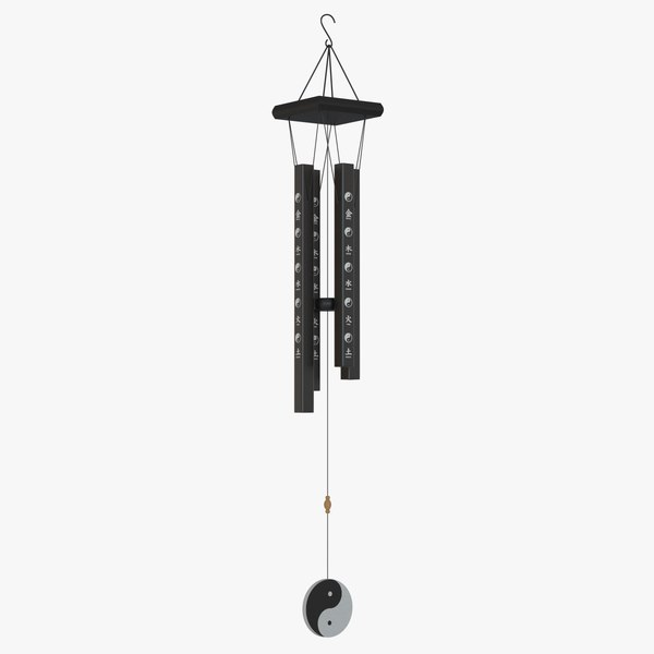 wind chimes chinese 3D model