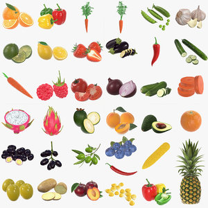 3D vegetable fruit