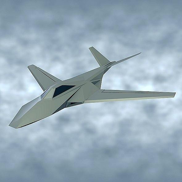 stealth aircraft concept 3D model