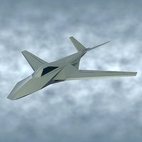 stealth aircraft concept 3D model