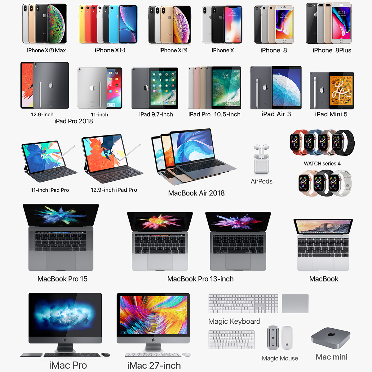 3D model apple electronics 2018