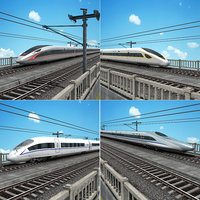 3D china speed train