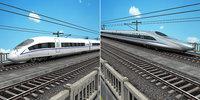 china speed train - 3D model